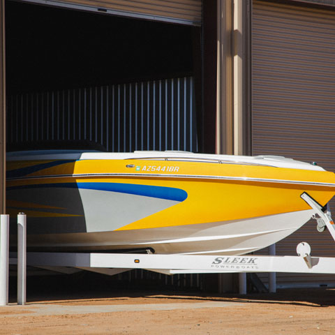 Boat storage at Antelope Point Marina Lake Powell