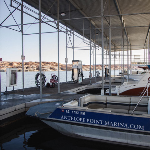 Antelope Point Marina Fuel Dock on Lake Powell