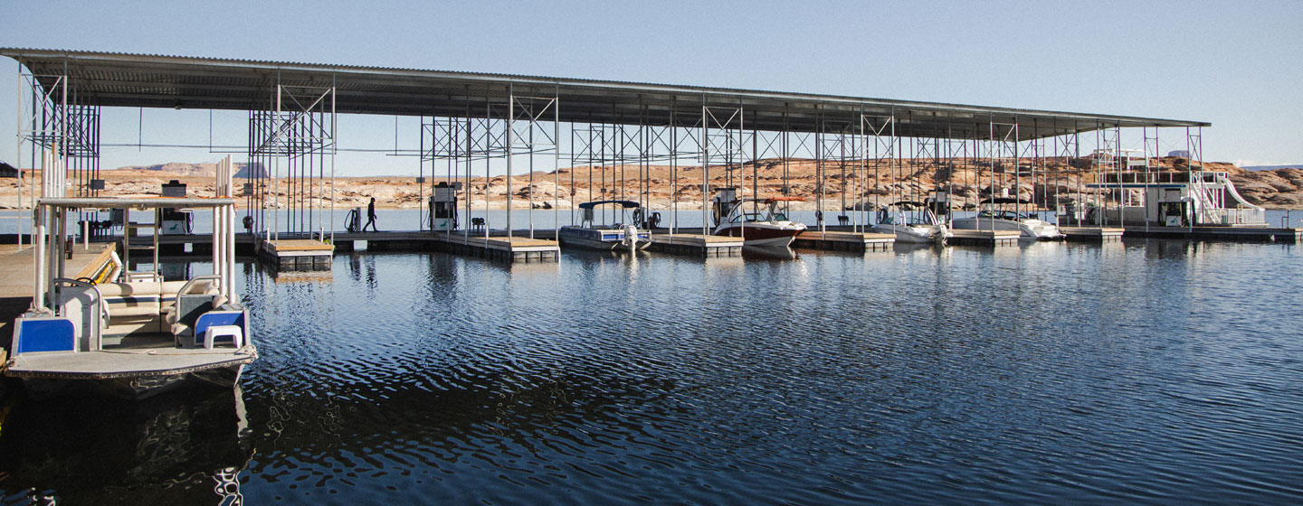 Fuel Dock at Lake Powell Antelope Point Marina