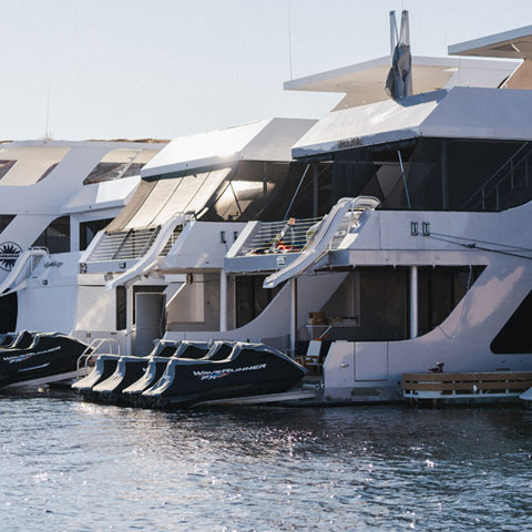 Houseboats at Antelope Point Marina