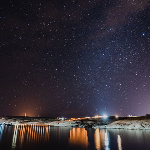 Night Sky over Antelope Point Marina Lake Powell