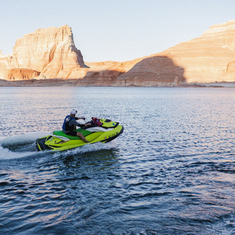 Jet Skiing on Lake Powell at Antelope Point Marina