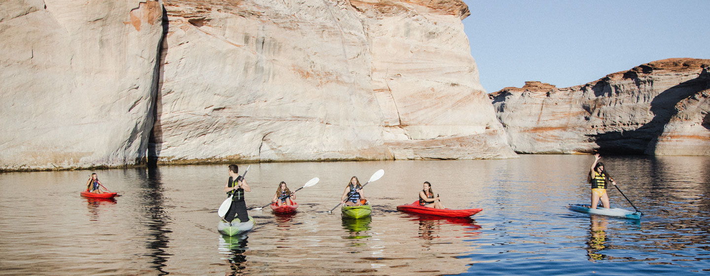 Kayaking on Lake Powell at Antelope Point Marina