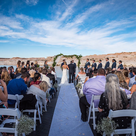 Lake Powell Wedding Ceremony at Antelope Point Marina