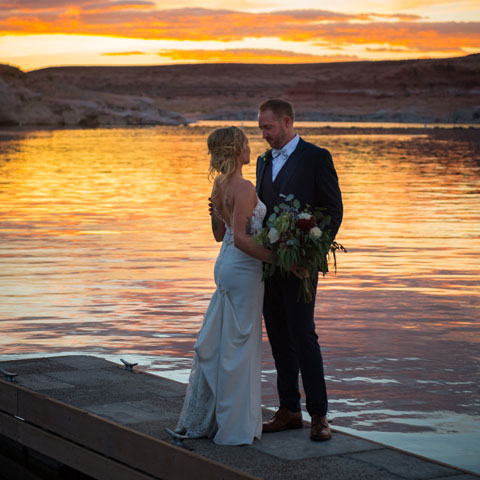 Wedding at Lake Powell - Antelope Point Marina